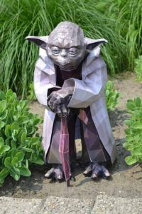 Star wars; Papercraft; papermodel; modèle en papier; how to; Home made; real size; Diy papercraft; Maître Yoda