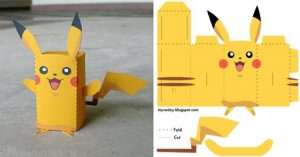 Maquette en papier Template gratuit; Papercraft; Paper model; éducation; motricité; enfant; kid; maquette en carton; comment; how to; diy